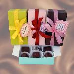Colored Boxes of Chocolate