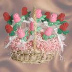 Basket of Chocolate Roses